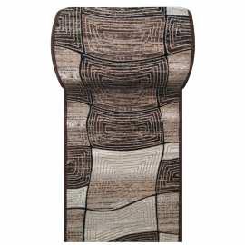 Brązowy chodnik dywanowy Fantazja 06 - szerokość od 60 do 120 cm
