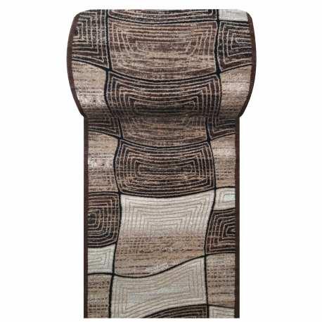 Chodnik dywanowy Fantazja 06 - brązowy - szerokość od 60 cm do 120 cm