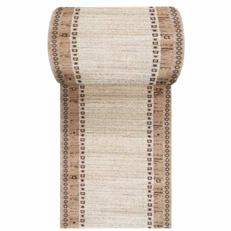 Chodnik dywanowy Fantazja 05 - brązowy - szerokość od 60 cm do 120 cm
