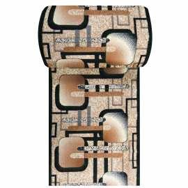 Zielony chodnik dywanowy BCF Alfa 16 - szerokość 100 cm