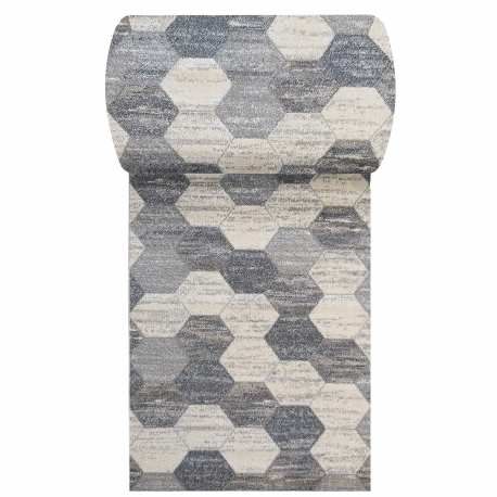 Szary chodnik dywanowy Vista 02 - szerokość od 60 do 120 cm