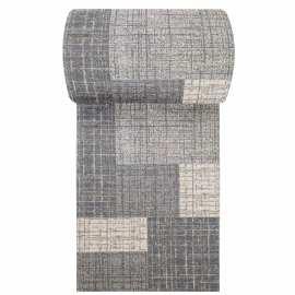 Szary chodnik dywanowy Vista 03 - szerokość od 60 do 120 cm