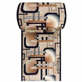 Granatowy chodnik dywanowy BCF Alfa 16 - szerokość 100 cm