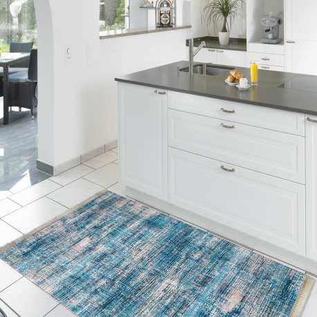 Chodnik nowoczesny kuchenny Blanka 02 - niebieski