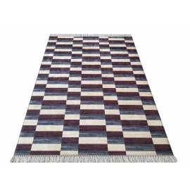 Granatowy chodnik nowoczesny Blanka 01