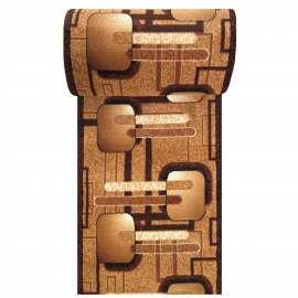 Brązowy chodnik dywanowy BCF Alfa 16 - szerokość od 60 do 120 cm